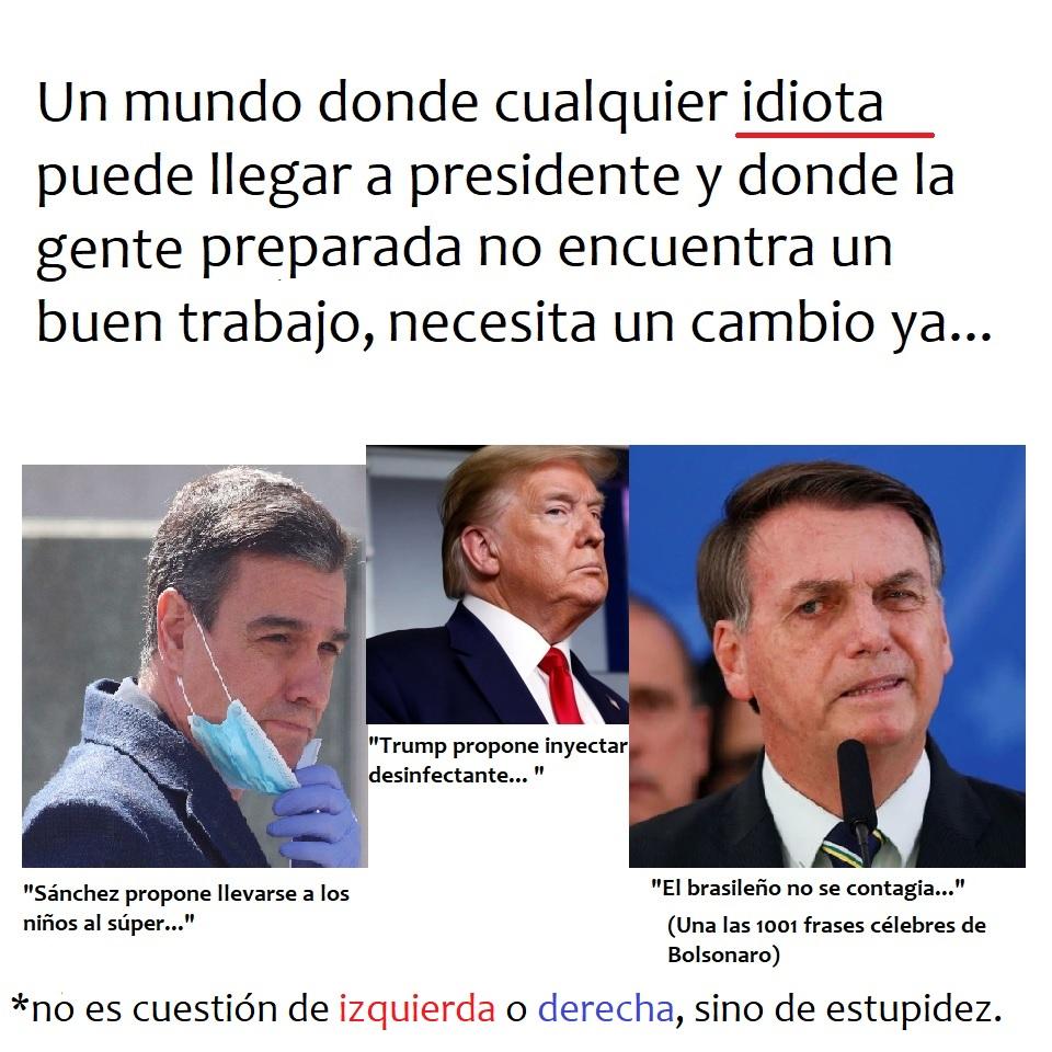 meme presidentes idiotas