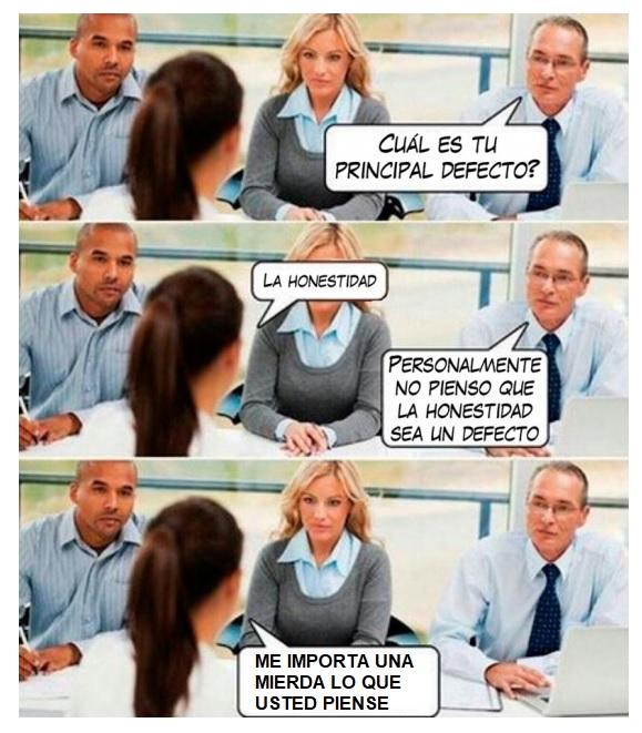 meme entrevista de trabajo