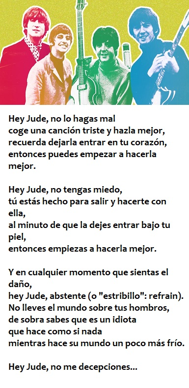 Hey Jude Letra traducida